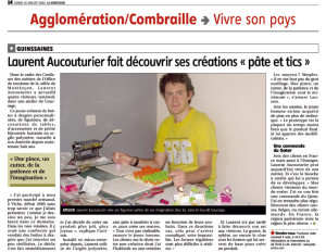 Article La Montagne Montluçon artisan d'art Pâte et Tics