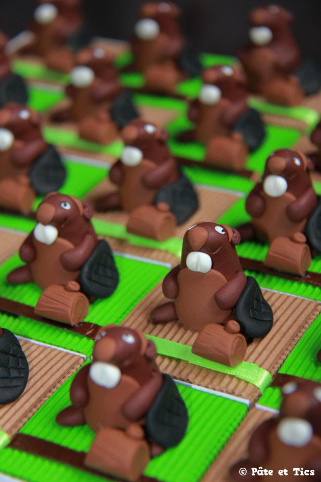 Boîtes à dragées castors