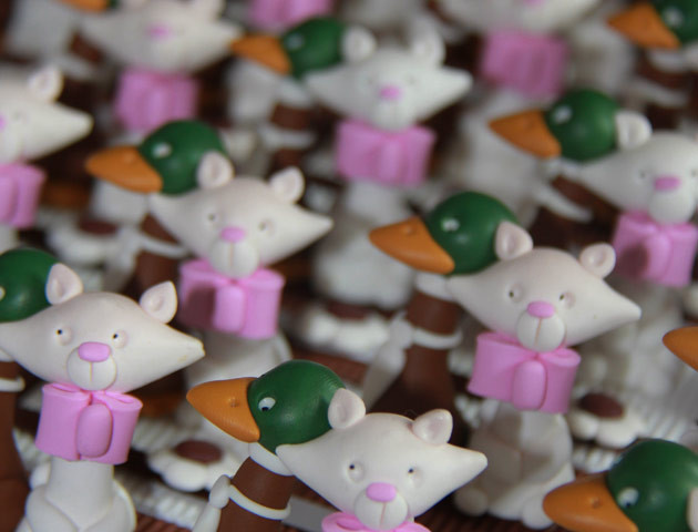 Boîtes à dragées chats et canards