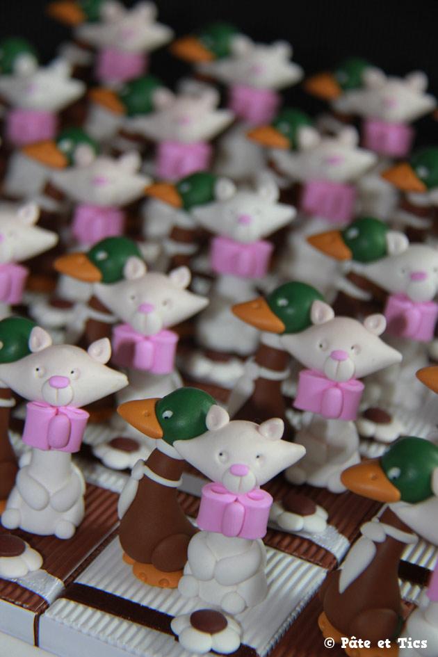 Boîtes à dragées mariés chats et canards