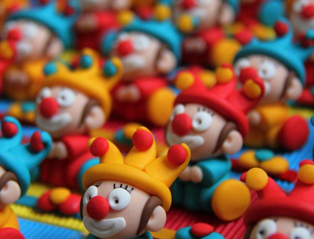 Boîtes à dragées clowns