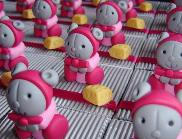 Boîtes à dragées doudous souris