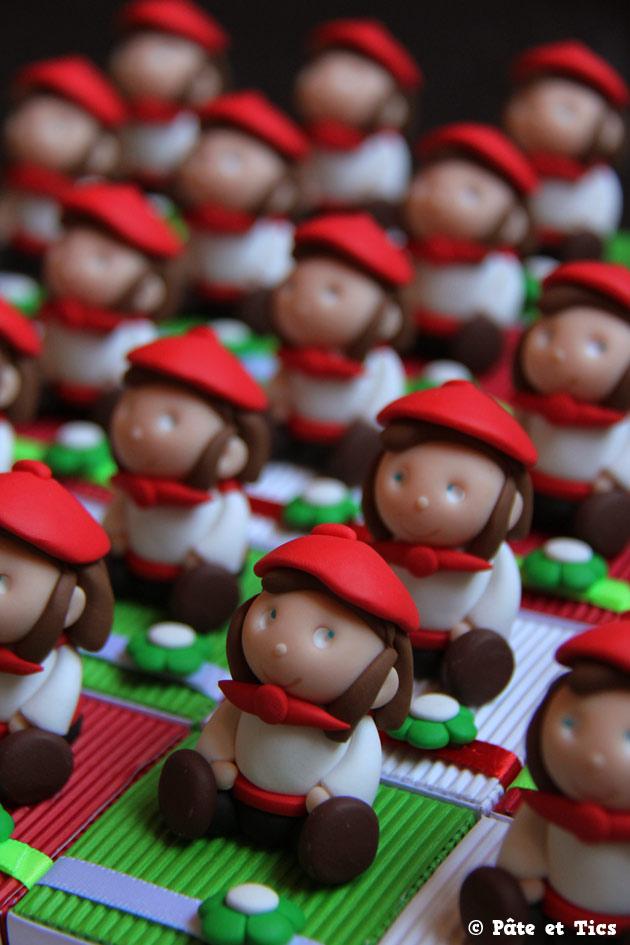 Boîtes à dragées filles basques