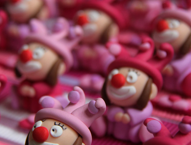 Boîtes à dragées filles clowns