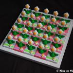 Boîtes à dragées fleurs pâquerettes thème nature et printemps