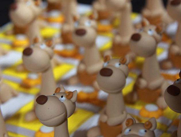 Boîtes à dragées kangourous