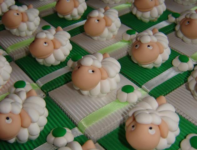 Boîtes à dragées moutons