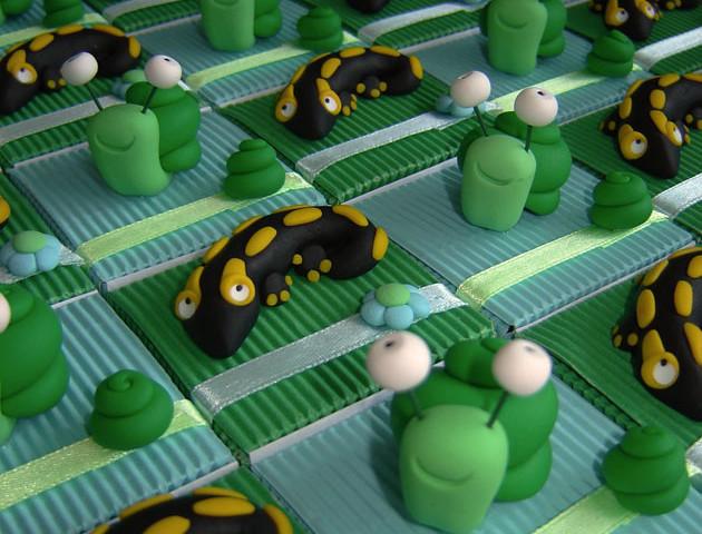 Boîtes à dragées salamandres