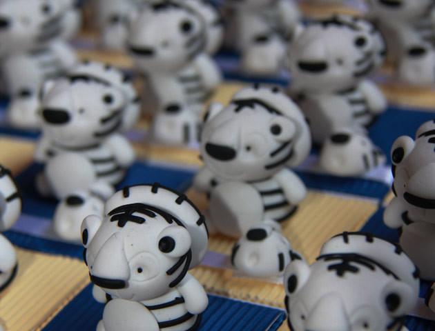 Boîtes à dragées tigres blancs