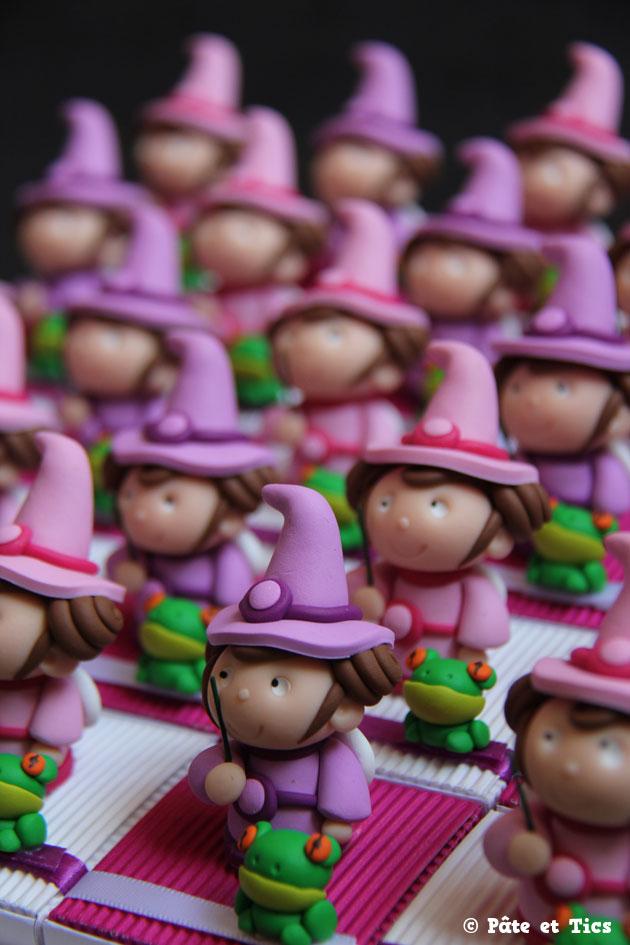 Boîtes à dragées petites fées et leurs grenouilles
