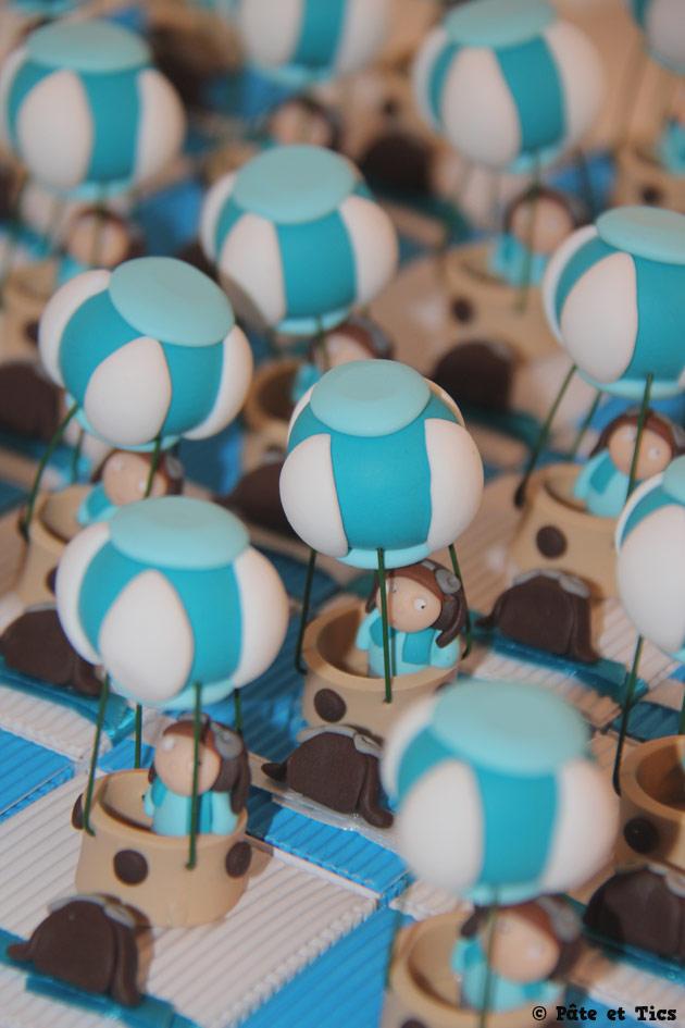 Boîtes à dragées ballons montgolfières et leurs aérostiers