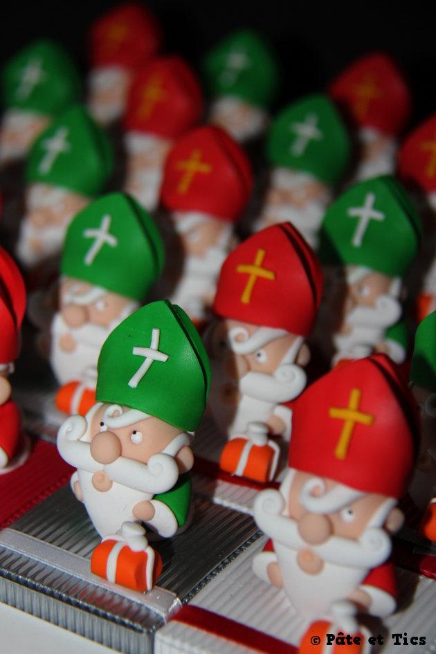 Boîtes à chocolats Saint-Nicolas thème Noël
