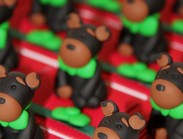 Boîtes à dragées chiens beaucerons