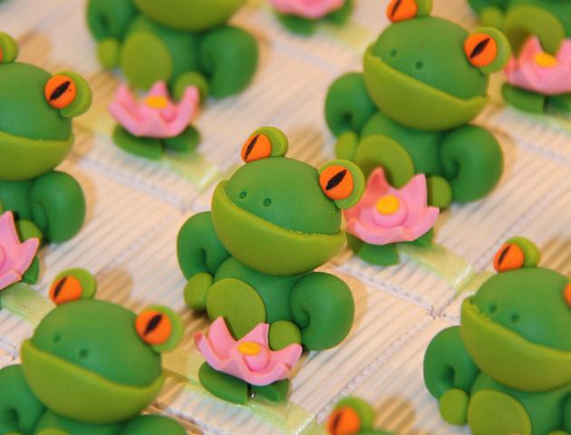 Boîtes à dragées grenouilles