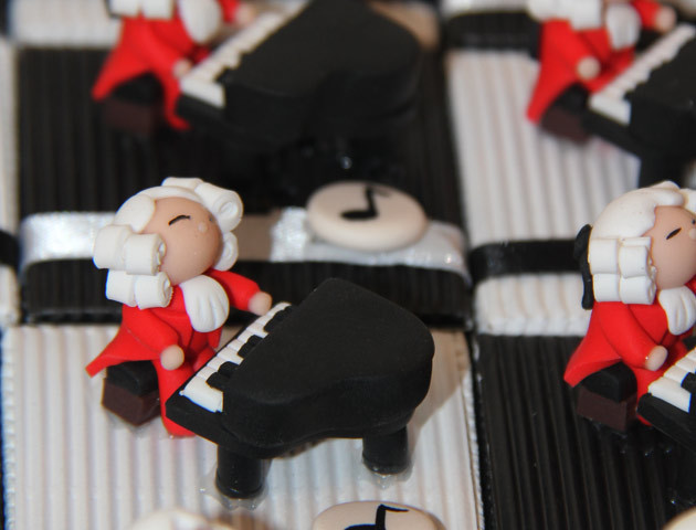 Boîtes à dragées pianistes Mozart