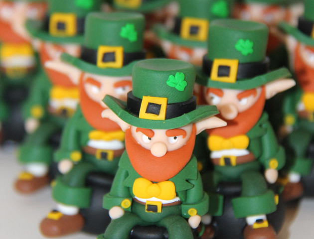 Petits sujets lutins irlandais leprechauns