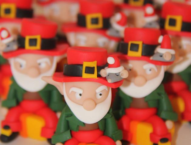 Sujets lutins de Noël