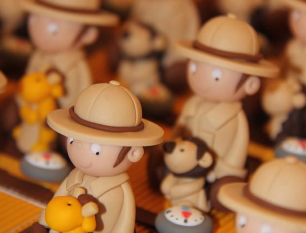 Boîtes à dragées petits explorateurs thème aventure