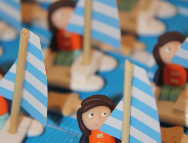 Boîtes à dragées catamarans