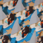 Boîtes à dragées catamarans thème voile