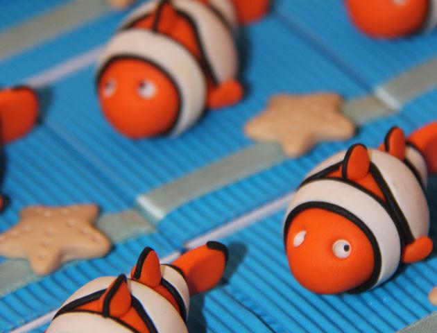 Boîtes à dragées poissons clowns
