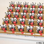 Boîtes à dragées couple de pandas
