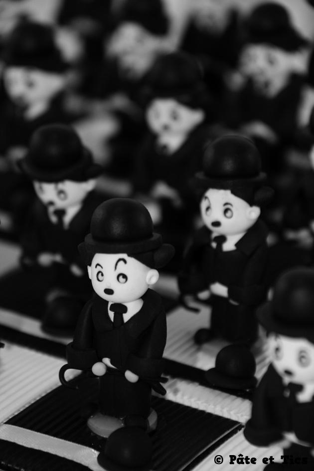 Boîtes à dragées Charlot Charlie Chaplin thème cinéma