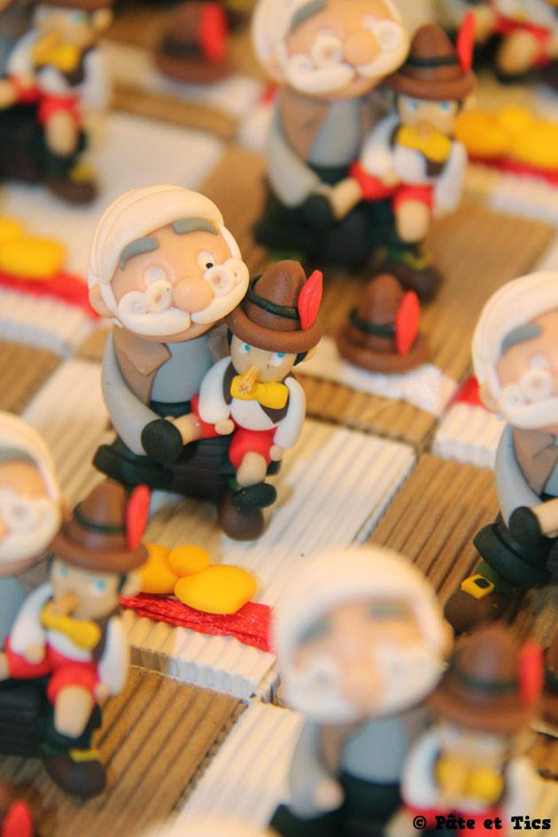 Boîtes à dragées Pinocchio et Gepetto