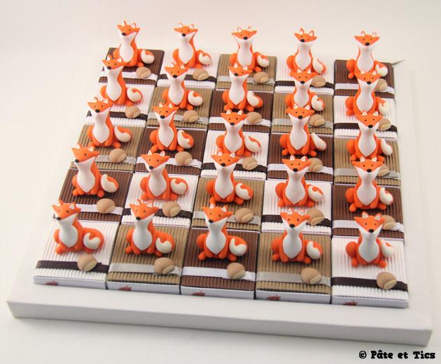 Boîtes à dragées renards