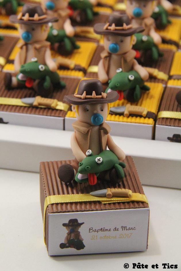 Boîtes à dragées enfants et leurs crocodiles