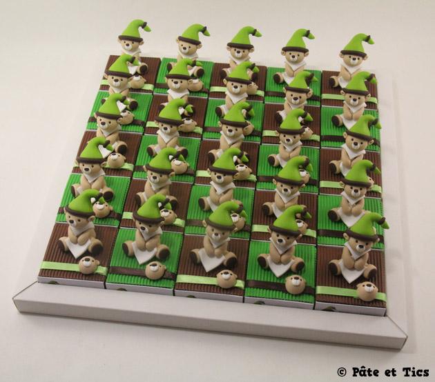 Boîtes à dragées doudous oursons