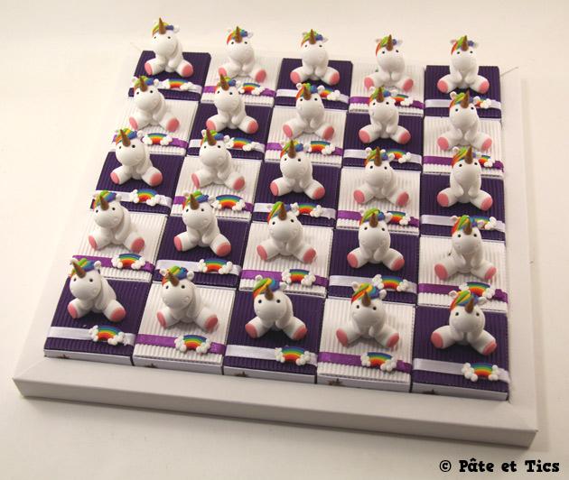 Boîtes à dragées licornes