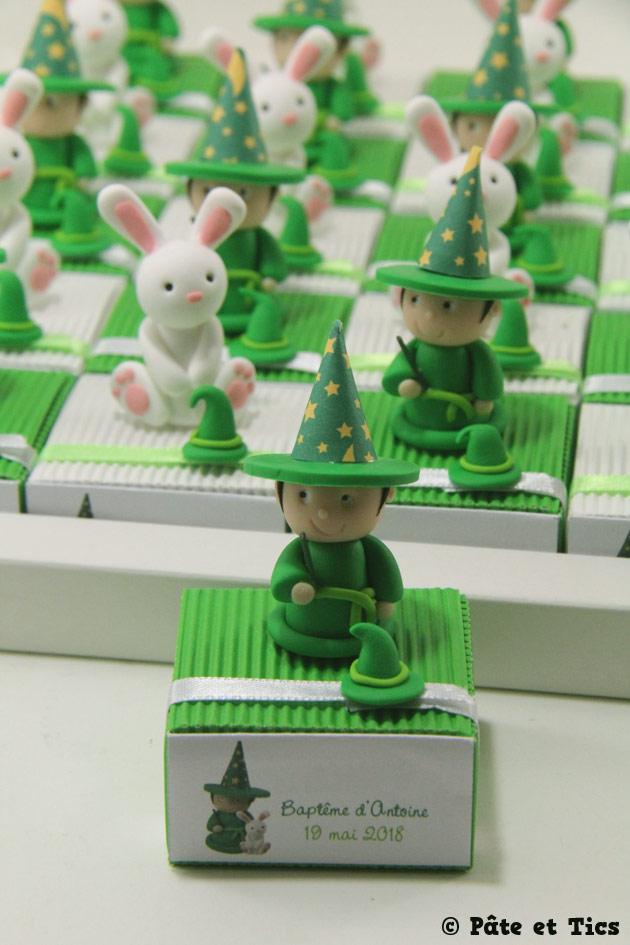 Boîtes à dragées magiciens et lapins