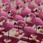 Boîtes à dragées flamants roses
