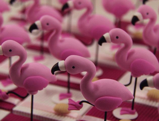 Boîtes à dragées flamants roses Camargue