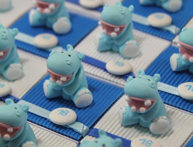 Boîtes à dragées animaux hippopotames