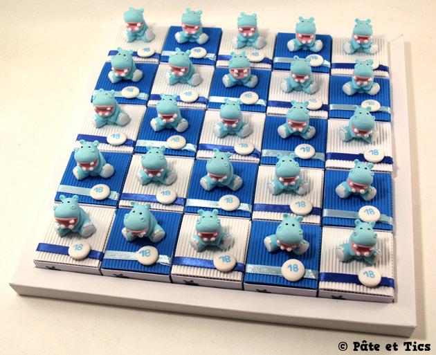 Boîtes à dragées hippopotames