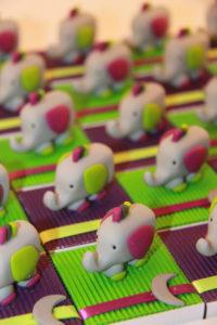 Boîtes à dragées doudous éléphants