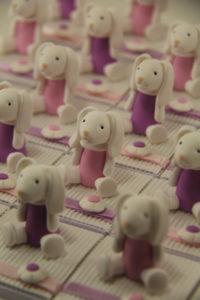 Boîtes à dragées peluches doudous lapins
