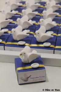 Boîtes à dragées colombes