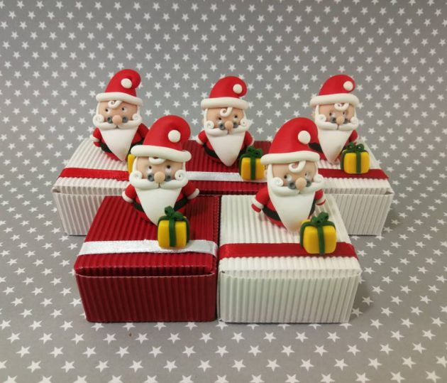 Boîtes à chocolats de Noël