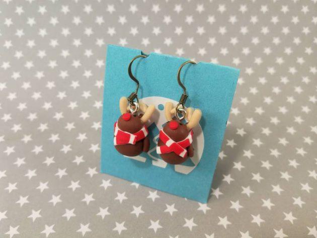 Boucles d'oreilles rennes